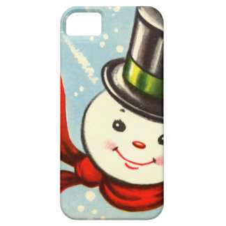 Cute Little Retro Snowman Barely There iPhone 5 Case
