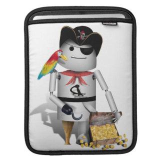 Cute Little Robot Pirate - Capt'n Robo-x9 iPad Sleeve