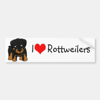 Cute Little Rottweiler Puppy Dog Cartoon Animal Bumper Sticker