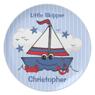 Cute Little Sailboat Party Plates