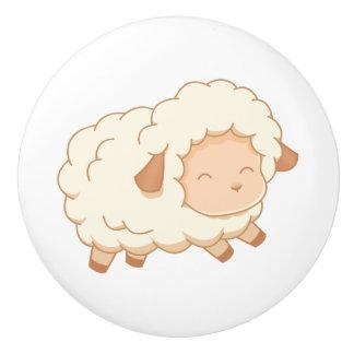 Cute Little Sheep Ceramic Knob