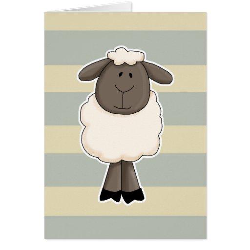Cute little sheep ewe card
