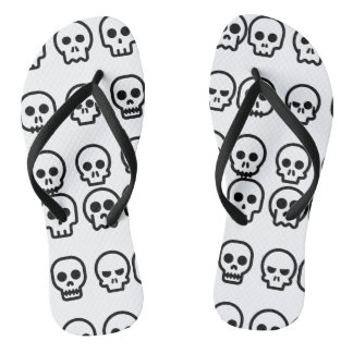 Cute Little Skulls Flip Flops