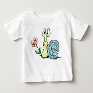 Cute Little Snail with Pink Flower Toddler T Shirt
