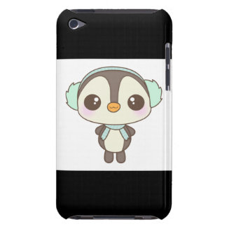 cute little snow day penguin cartoon barely there iPod cover
