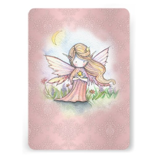 Cute Little Star Fairy Girls Birthday Party Invite