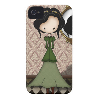 Cute Little Steampunk Girl in Green iPhone 4 Cases