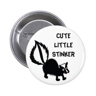 Cute Little Stinker Skunk Print Art Graphic Pinback Button
