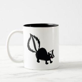 Cute Little Stinker Skunk Printed Art Design Two-Tone Mug
