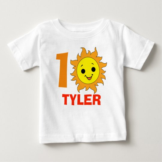 Cute Little Sun, 1st summer vacation Baby T-Shirt