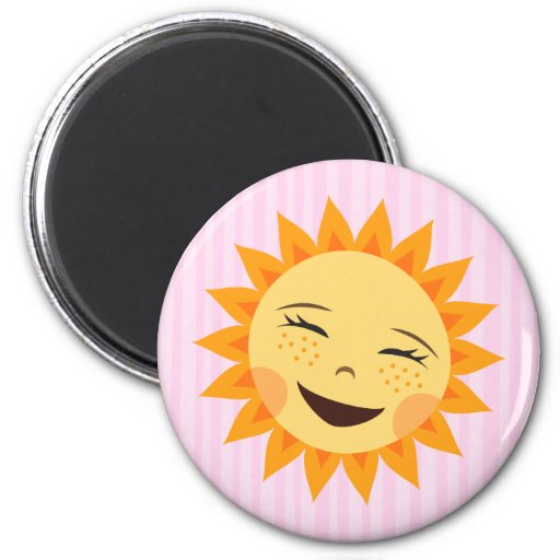 Cute little sun cartoon fridge magnet