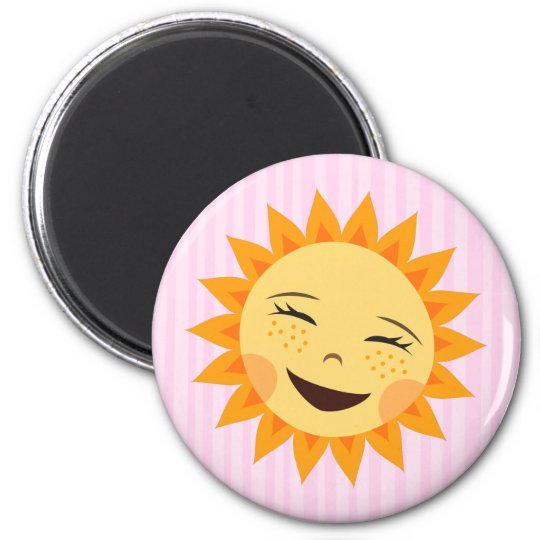 Cute little sun cartoon fridge magnet