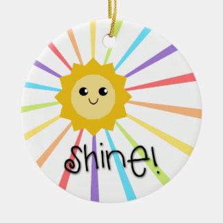 Cute Little Sunshine Shine Christmas Ornament
