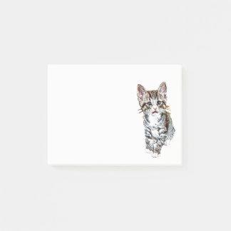 Cute Little Tabby Kitten for Cat Lovers Post-it Notes