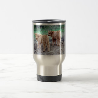 Cute little tails stainless steel travel mug