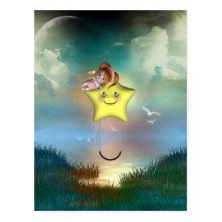 Cute little toon tot baby fairys 1 postcard