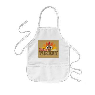 Cute little turkey kids unisex Thanksgiving apron