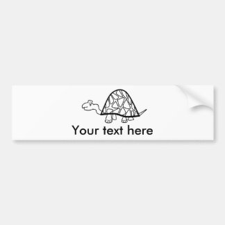 Cute little turtle bumper sticker