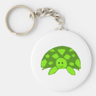 Cute little Turtle Basic Round Button Key Ring