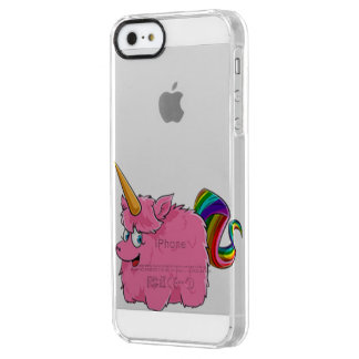 Cute little unicorn clear iPhone SE/5/5s case