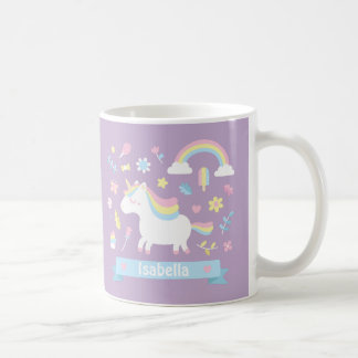 Cute Little Unicorn Rainbow Girls Mug