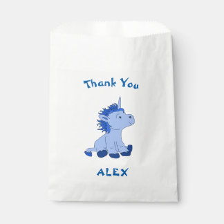 Cute Little Unicorn Thank You Name Favour Bags