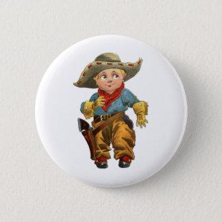 cute little vintage cowboy 6 cm round badge