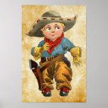 cute little vintage cowboy poster