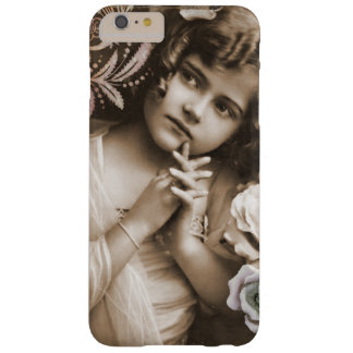 Cute Little Vintage Girl Barely There iPhone 6 Plus Case
