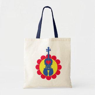 Cute Little Violin Totebag Canvas Bags