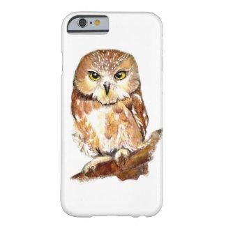 Cute Little Watercolor Owls with attitude Bird Fun iPhone 6 Case