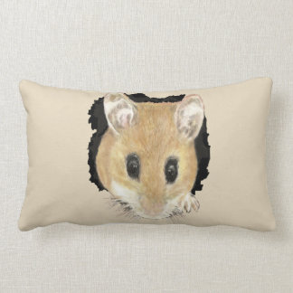 Cute Little Watercolor Pet Pocket Mouse Animal Art Lumbar Cushion