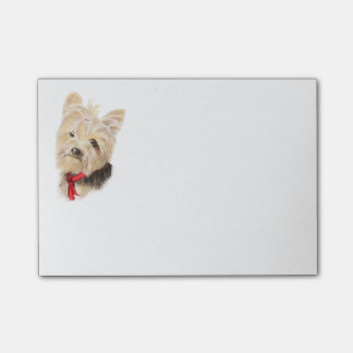 Cute Little Watercolor Yorkie Yorkshire Terrier Post-it Notes