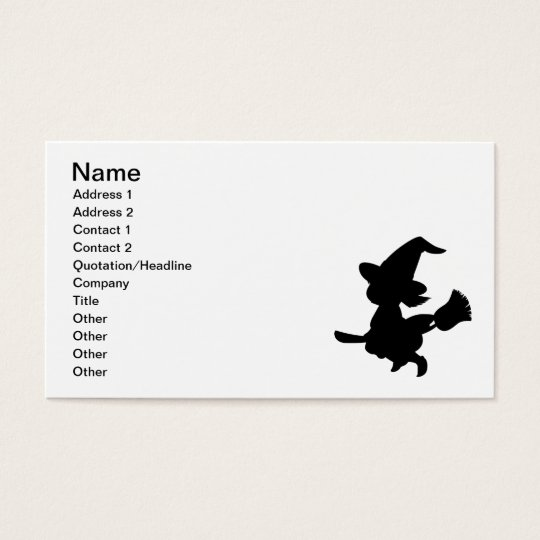 Cute Little Witch Business Card