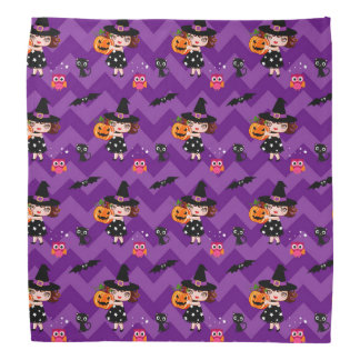 Cute Little Witch Halloween Bandana