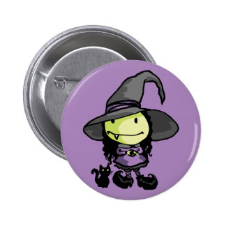 Cute Little Witchy 6 Cm Round Badge