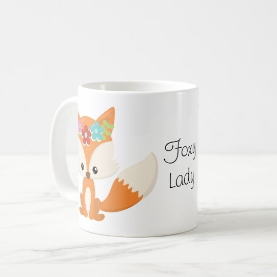 Cute Little Woodland Fox Foxy Lady Coffee Mug