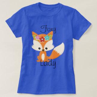 Cute Little Woodland Fox Foxy Lady T-Shirt
