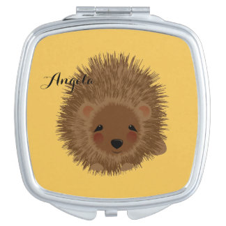 Cute Little Woodland Hedgehog Illustration Compact Mirror