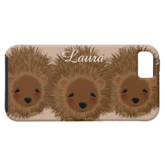 Cute Little Woodland Hedgehogs Tough iPhone 5 Case