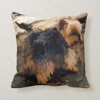 Cute Little Yorkie   - Yorkshire Terrier Dog Cushion