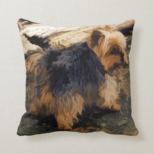Cute Little Yorkie - Yorkshire Terrier Dog Cushion