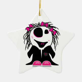 cute little zombie girly christmas ornament