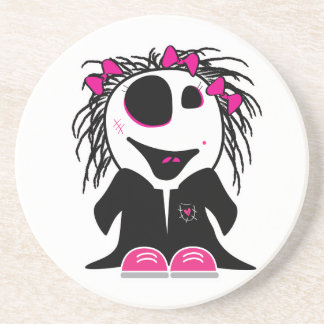 cute little zombie girly coaster