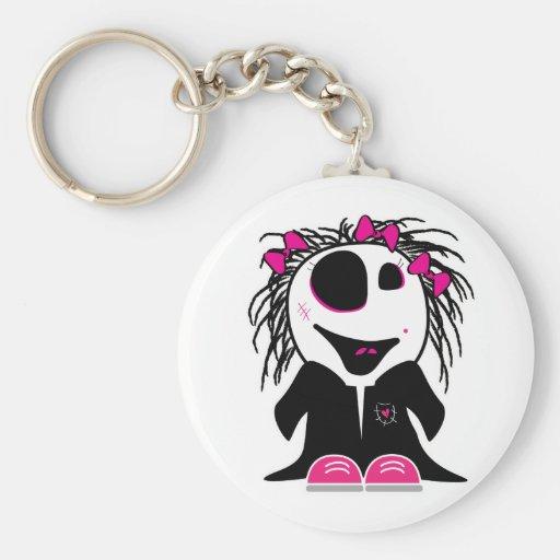 cute little zombie girly keychain
