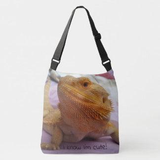 Cute Lizard Up Close Photo Print Crossbody Bag