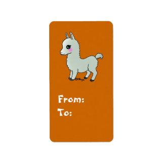 Cute Llama Address Label