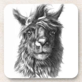 Cute Llama portrait Dessous-de-verre