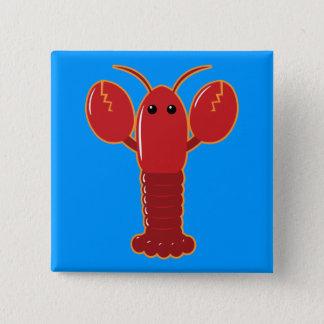 Cute Lobster 15 Cm Square Badge