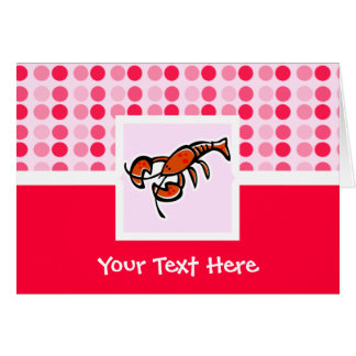 Cute Lobster Card